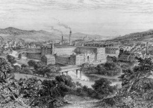 Οικισμός Saltaire (χαρακτικό του 19ου αιώνα)
