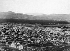 Άποψη του Ελαιώνα από την Αθήνα (1872)